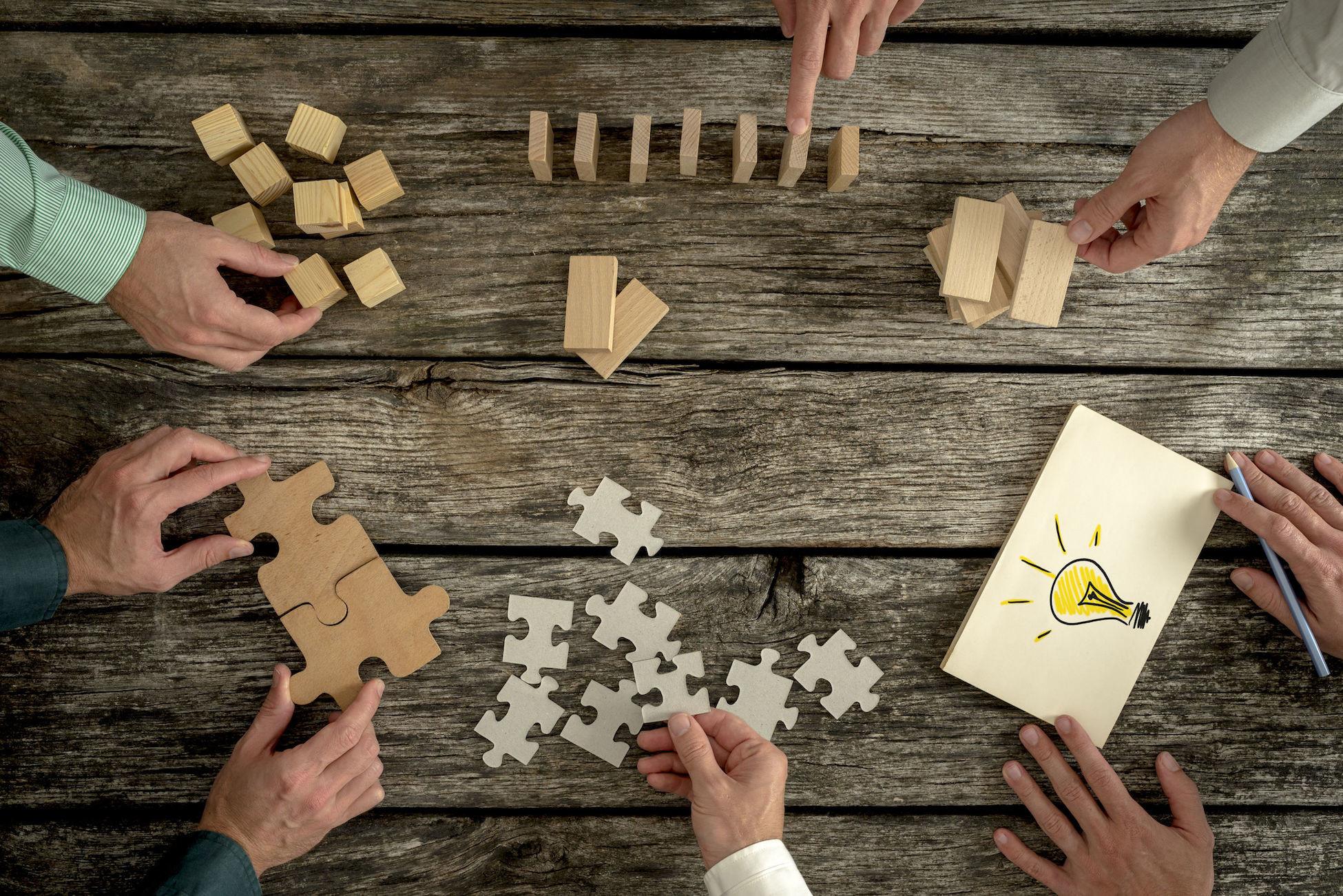 samen puzzelen